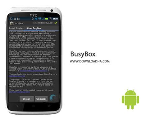 BusyBox Cover%28Downloadha.com%29 دانلود نرم افزار نصب حرفه ای برنامه ها BusyBox 40 برای اندروید