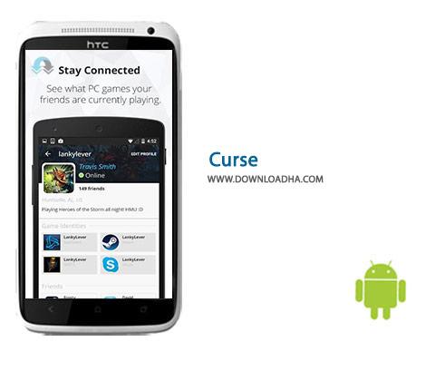 Curse Cover%28Downloadha.com%29 دانلود نرم افزار مسنجر برای گیمرها Curse 1.2.2 برای اندروید