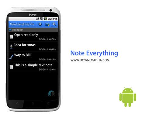 Note Everything Cover%28Downloadha.com%29 دانلود نرم افزار نت برداری آسان Note Everything 4.2.10 برای اندروید