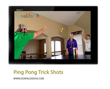 Ping Pong Trick Shots Cover%28Downloadha.com%29 دانلود کلیپ ترفندهای های زیبای بازی پینگ پنگ