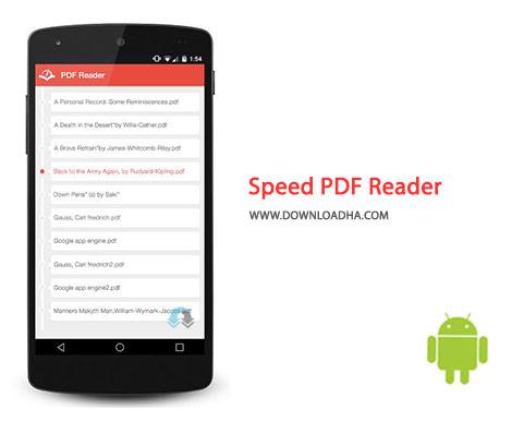 Speed PDF Reader Cover%28Downloadha.com%29 دانلود نرم افزار خوان پی دی اف Speed PDF Reader 1.0.1 برای اندروید