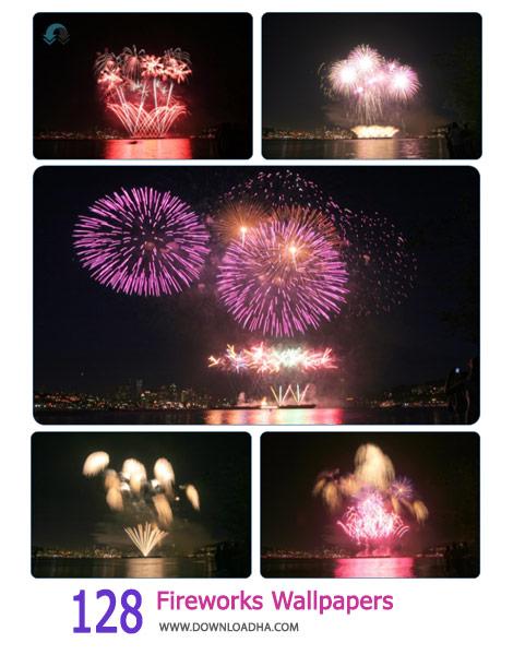 128 Fireworks Wallpapers Cover%28Downloadha.com%29 دانلود مجموعه 128 والپیپر آتش بازی