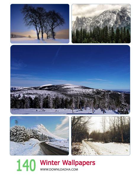 140 Winter Wallpapers Cover%28Downloadha.com%29 دانلود مجموعه 140 والپیپر از فصل زمستان