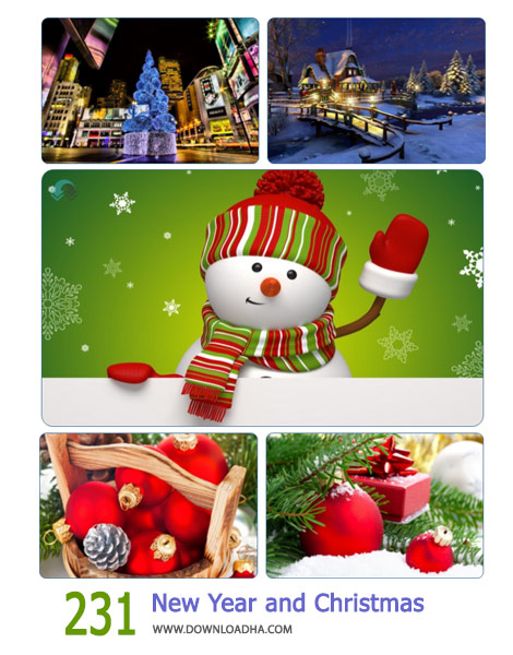 231 New Year and Christmas Wallpaper Cover%28Downloadha.com%29 دانلود مجموعه 231 والپیپر کریسمس و سال جدید میلادی