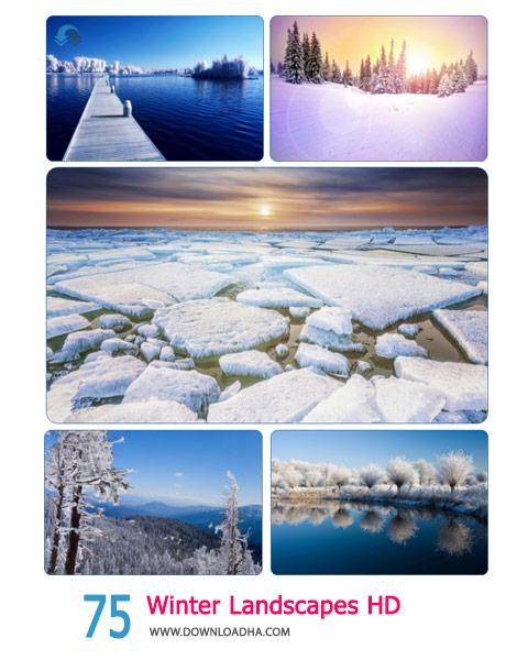 75 Winter Landscapes HD Wallpapers Cover%28Downloadha.com%29 دانلود مجموعه 75 والپیپر عریض از فصل زمستان