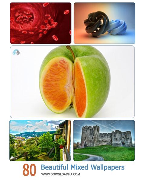 80 Beautiful Mixed Wallpapers Cover%28Downloadha.com%29 دانلود مجموعه 80 والپیپر متنوع