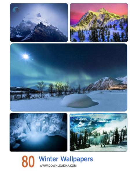 80 Winter Wallpapers Cover%28Downloadha.com%29 دانلود مجموعه 80 والپیپر از فصل زمستان