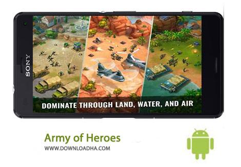 Army of Heroes Cover%28Downloadha.com%29 دانلود بازی استراتژیک ارتش قهرمانان Army of Heroes 1.01.08   اندروید