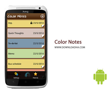 Color Notes Cover%28Downloadha.com%29 دانلود نرم افزار خاطره نویسی Color Notes 1.7.7 برای اندروید