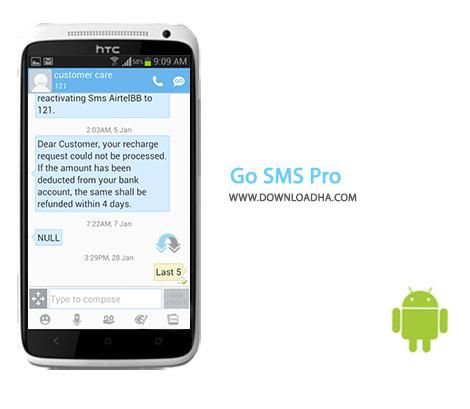 دانلود نرم افزار ارسال ویژه اس ام اس GO SMS Pro 6.42 برای اندروید