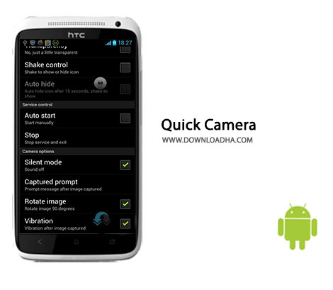 Quick Camera Cover%28Downloadha.com%29 دانلود نرم افزار عکس برداری سریع Quick Camera 1.2.9.0 برای اندروید