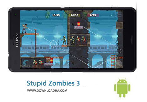 Stupid Zombies Cover%28Downloadha.com%29 دانلود بازی مهیج زامبی های احمق Stupid Zombies 3 1.6 برای اندروید