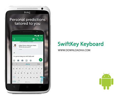 SwiftKey Keyboard Cover%28Downloadha.com%29 دانلود کیبرد سوئیفت SwiftKey Keyboard 6.4.1.52   اندروید