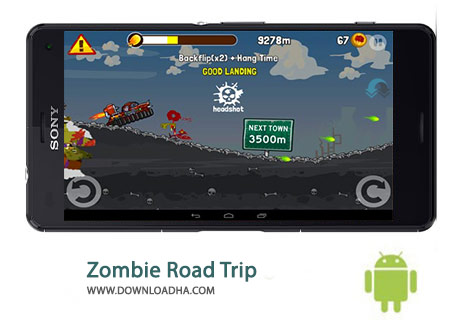 Zombie Road Trip Cover%28Downloadha.com%29 دانلود بازی مسابقه ای جاده زامبی ها Zombie Road Trip 3.16.1 برای اندروید