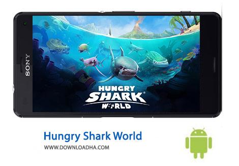 Hungry Shark World Cover%28Downloadha.com%29 دانلود بازی حمله کوسه Hungry Shark World 1.4.2   اندروید