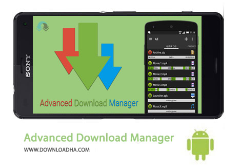 ADM Cover%28Downloadha.com%29 دانلود منیجر Advanced Download Manager Pro 5.1.2   اندروید