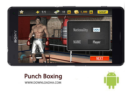 Punch Boxing Cover%28Downloadha.com%29 دانلود بازی زیبای بوکس Punch Boxing 3D 1.1.0   اندروید