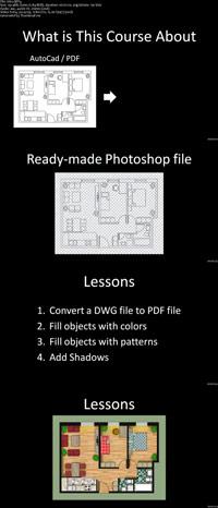 How to Render an AutoCAD Floor Plan with Photoshop ss s%28Downloadha.com%29 دانلود فیلم آموزش رندر نقشه کف اتوکد در فتوشاپ