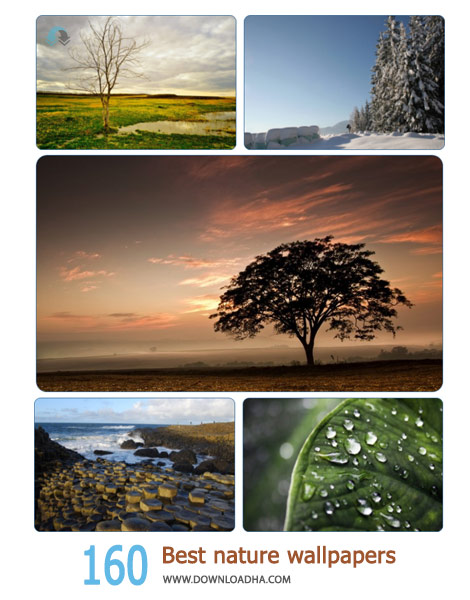 160 Best nature wallpapers Cover%28Downloadha.com%29 دانلود مجموعه 160 والپیپر طبیعت