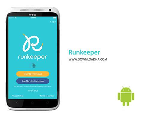 Runkeeper Cover%28Downloadha.com%29 دانلود نرم افزار تناسب اندام Runkeeper 6.6   اندروید