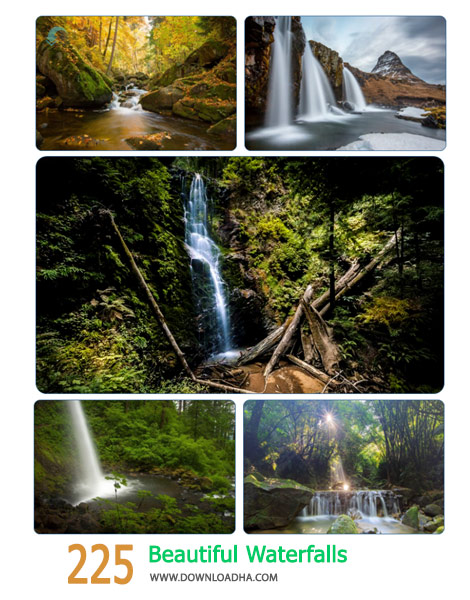 225 Beautiful Waterfalls Cover%28Downloadha.com%29 دانلود مجموعه 225 والپیپر آبشار
