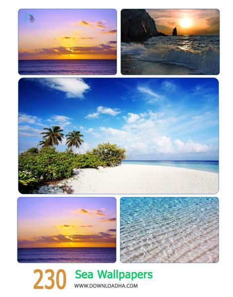 230 Sea Wallpapers Cover%28Downloadha.com%29 دانلود مجموعه 230 والپیپر دریاها