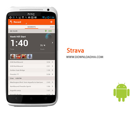Strava Cover%28Downloadha.com%29 دانلود نرم افزار فعالیت ورزشی Strava 4.19.0   اندروید