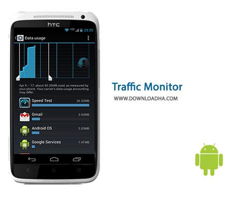 Traffic Monitor Cover%28Downloadha.com%29 دانلود نرم افزار تست سرعت اینترنت Traffic Monitor 7.2.0   اندروید