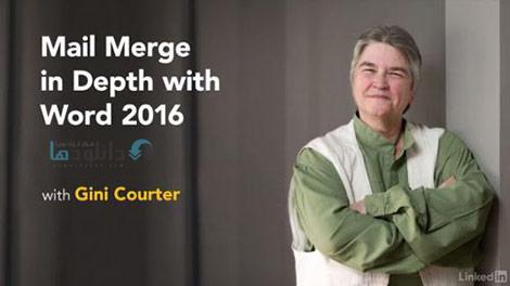Mail Merge in Depth with Word 2016 Cover%28Downloadha.com%29 دانلود فیلم آموزش ادغام ایمیل ها در ورد 2016