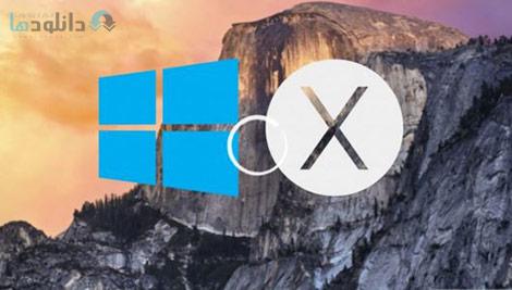 How to Install and Run Windows 8.1 on Mac OSX Yosemite Cover%28Downloadha.com%29 دانلود فیلم آموزش نصب و اجرای ویندوز 8.1 بر روی سیستم عامل مک