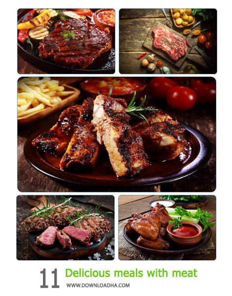 11 Delicious meals with meat Cover%28Downloadha.com%29 دانلود مجموعه 11 والپیپر وعده های غذایی خوشمزه با گوشت