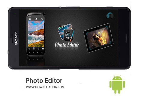 Photo Editor Cover%28Downloadha.com%29 دانلود نرم افزار ویرایش عکس Photo Editor 1.8.7 برای اندروید