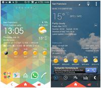 Amber Weather ss1 s%28Downloadha.com%29 دانلود نرم افزار اطلاعات آب و هوا Amber Weather 2.5.2   اندروید
