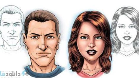 Creating Comic Book Faces in Sketchbook Pro 8 Cover%28Downloadha.com%29 دانلود فيلم آموزش ساخت چهره هاي كاميك بوكي در Sketchbook Pro 8