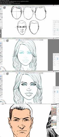 Creating Comic Book Faces in Sketchbook Pro 8 ss s%28Downloadha.com%29 دانلود فيلم آموزش ساخت چهره هاي كاميك بوكي در Sketchbook Pro 8