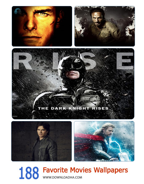 188 Favorite Movies Wallpapers Cover%28Downloadha.com%29 دانلود مجموعه 188 از فیلم های محبوب