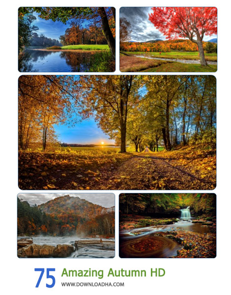 75 Amazing Autumn HD Cover%28Downloadha.com%29 دانلود مجموعه 75 والپیپر از فصل پاییز