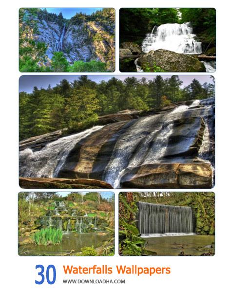 30 Waterfalls Wallpapers Cover%28Downloadha.com%29 دانلود مجموعه 30 والپيپر از آبشار