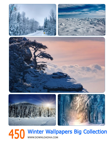 450 Winter Wallpapers Big Collection Cover%28Downloadha.com%29 دانلود مجموعه 450 والپیپر زمستان