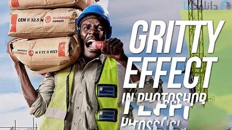 How To Create A Gritty Effect In Photoshop Cover%28Downloadha.com%29 دانلود فیلم آموزش طراحی افکت شن زار در فتوشاپ