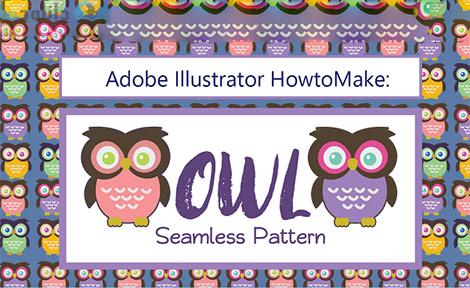 Adobe Illustrator How To Make Seamless Owl Pattern Cover%28Downloadha.com%29 دانلود فیلم آموزش طراحی الگوی یکپارچه جغد در Adobe Illustrator