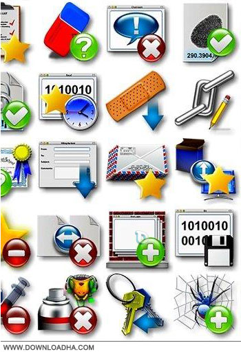 Collection of Application Icons 3 مجموعه آیکون های برنامه سری یک Collection of Application