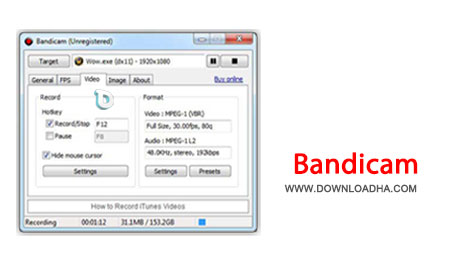 فیلم برداری از دسکتاپ با Bandicam 1.9.4.505