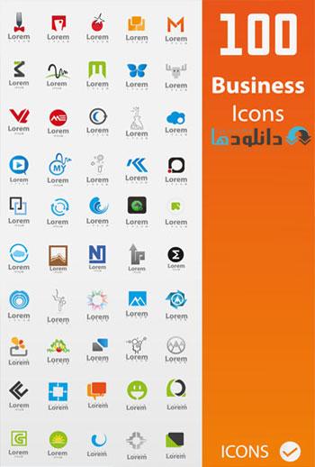100 Business Icons Vector Collection دانلود مجموعه آیکن و وکتور های تجارت   Business Icons Vector Collection