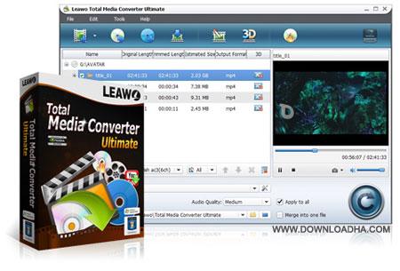 total media converter ultimate ابزار کامل مالتی مدیا Leawo Total Media Converter Ultimate 7.2.1.4
