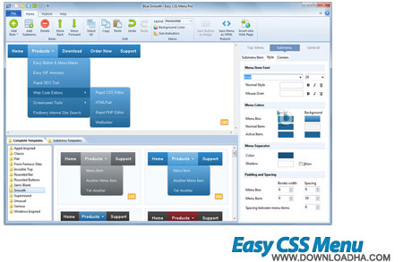 Blumentals Easy CSS Menu ساخت منوهای سی اس اس Blumentals Easy CSS Menu 3.3