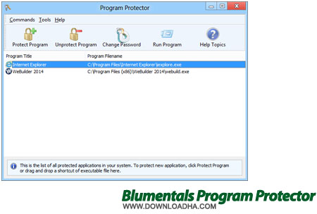 bluementals program protector