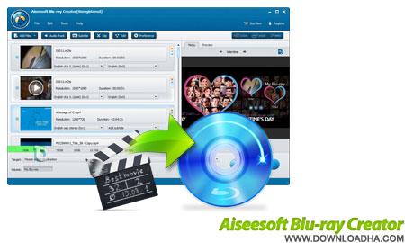 Aiseesoft Blu ray Creator رایت لوح های فشرده بلو ری Aiseesoft Blu ray Creator 1.0.6.21228