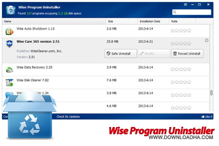 Wise Program Uninstaller حذف کامل نرم افزارهای نصب شده Wise Program Uninstaller 1.59.78