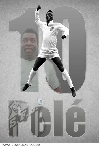 Pele Top Goals %26 Skills دانلود کلیپ برترین حرکات و گل های پله   Pele Top Goals & Skills